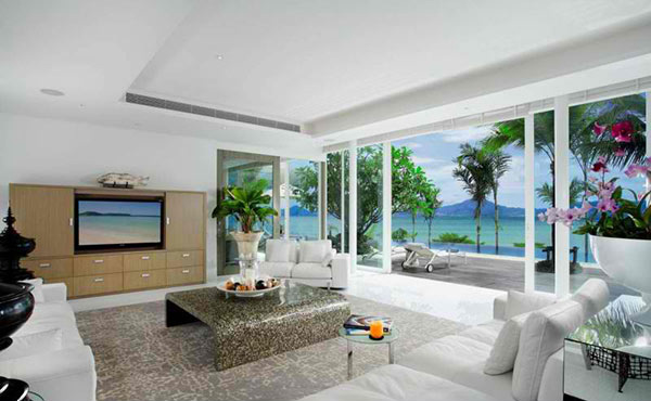 Oceanfront villa a paradise dwelling in phuket thailand for Window design in nepal