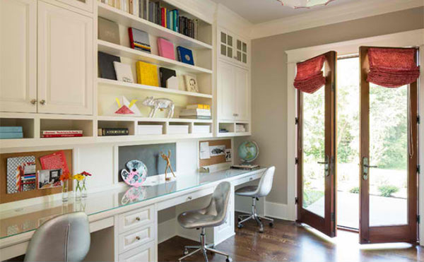 15 ideas in designing your home 39 s craft room home design Study room wall cabinets