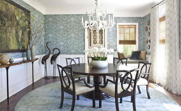 Dining Rooms With Damask Wall Patterns Home Design Lover