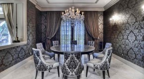 15 Dining Rooms With Damask Wall Patterns