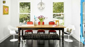15 Dining Rooms in Red, Black and White Colors