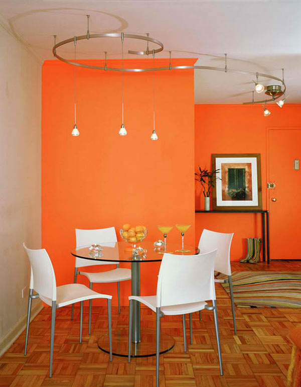 15 modern and contemporary orange dining rooms | home design lover
