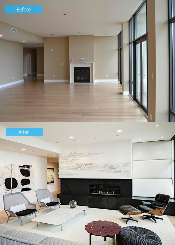 Remodel Pictures Before And After 15 impressive before and after photos of living room remodels