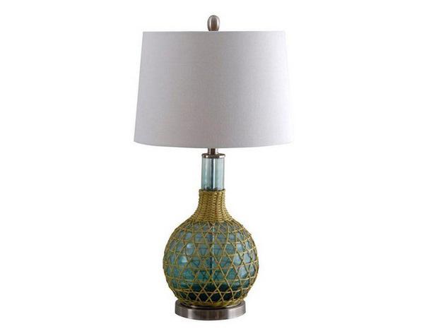 green glass table lamp. Black Bedroom Furniture Sets. Home Design Ideas