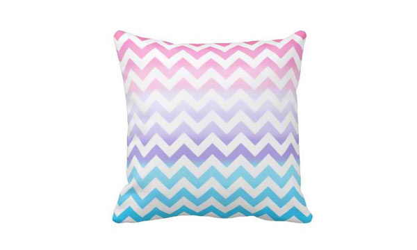 Zigzag Pastel Ombre Pillows