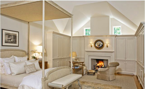 Traditional Bedroom fireplace