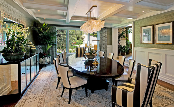 decorating with mirrored furniture in 15 stunning dining room