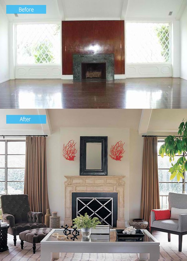 Living Room Remodel 15 impressive before and after photos of living room remodels