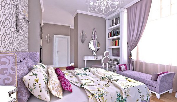 15 elegant bedroom design ideas home design lover for Bedroom ideas for women