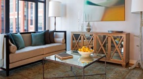 Decorating with Mirrored Furniture in 15 Beautiful Living Rooms