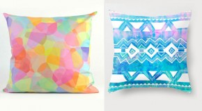 20 Soothing Geometric Pastel Modern Throw Pillows