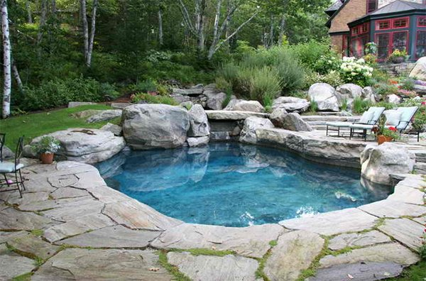 20 chemical free and bespoke natural swimming pools home - Natural swimming pool design ...