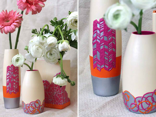 DIY Painted Texture Vase
