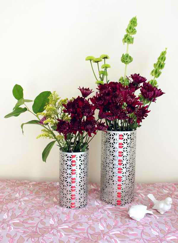 DIY Metal Screen Vase