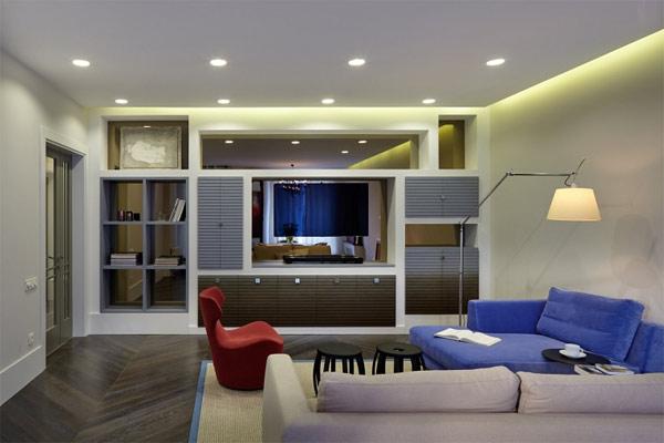 bright lights living room