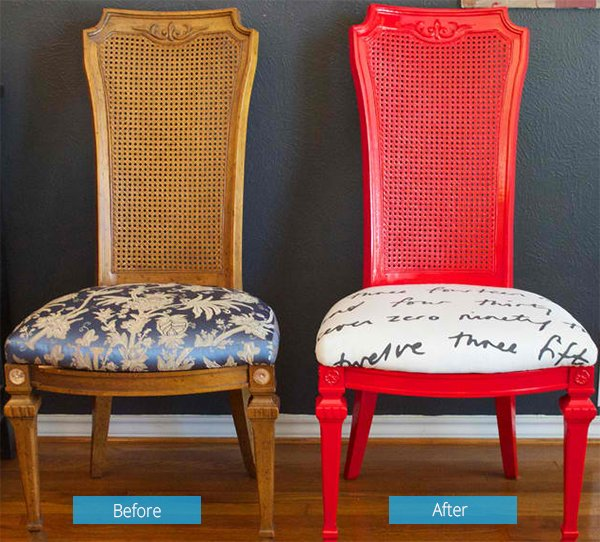 Spray Paint And Reupholster Your Dining Room Chairs