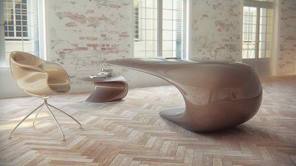 nebbessa table: an ultra-modern sleek desk design | home design lover