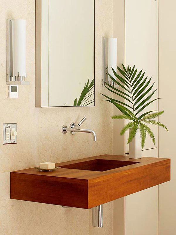 floating wood sinks