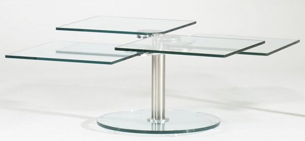 Image Result For Flavie Modern Swivel Glass Coffee Table