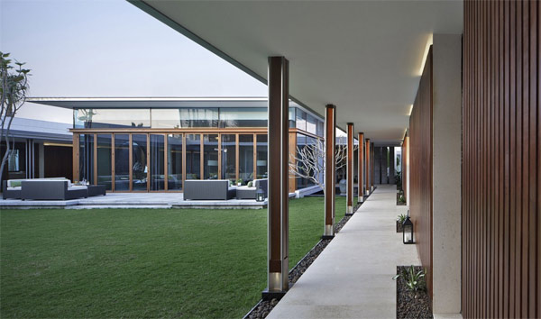 hallway courtyard