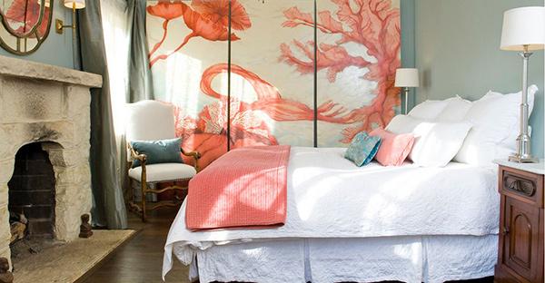 Pueblo St Master Bedroom Lori Smyth Design This Coral Panel Wall Art