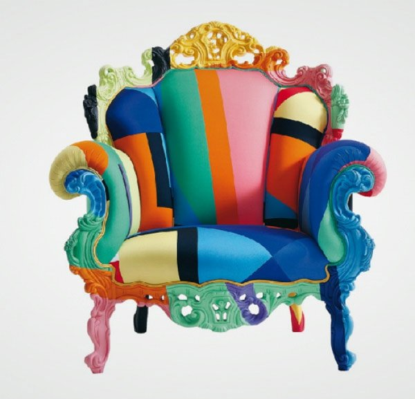 vibrant colors throne