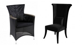 20 Glamorous Examples of Black Living Room Chairs