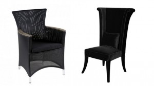 black livingroom chairs