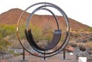 An Outdoor Sculptural Rotating Etazin Lounge Chair