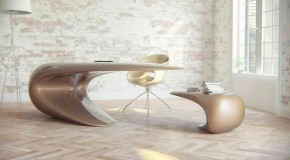 Nebbessa Table: An Ultra-modern Sleek Desk Design