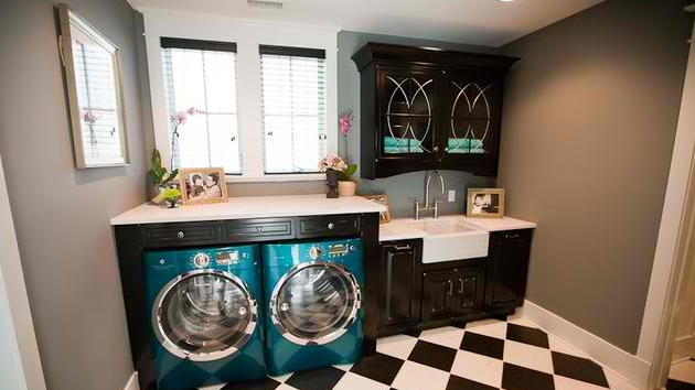 Wash, Dry and Fold in These 23 Gray Laundry Areas