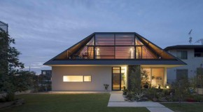 A Modern Hipped Roof House in Japan