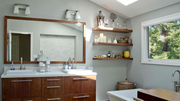 20 Ideas for Setting up a Mirror in a Modern Bathroom