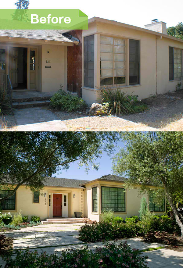 Sonoma remodel before and after photos of a transformed for Redesign front of house