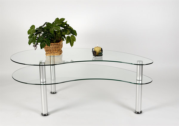 aluminum modern coffee table