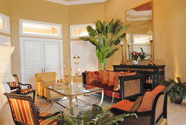 Mediterranean design living room