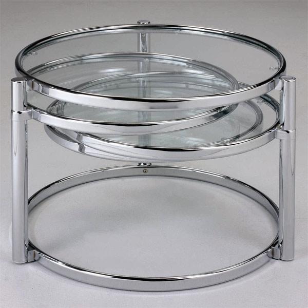 chrome finish modern table
