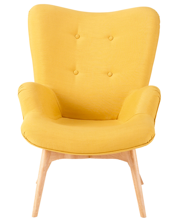 20 fascinating yellow living room chairs home design lover - Fauteuil design scandinave pas cher ...