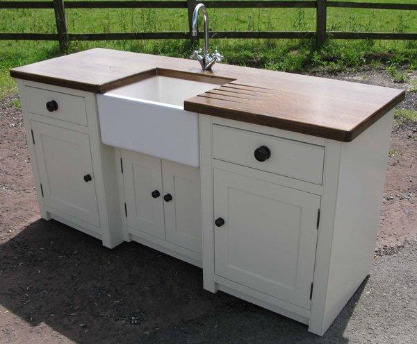 Home design 20 wooden free standing kitchen sink for Free standing kitchens john lewis