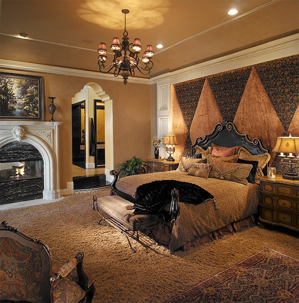 20 luxurious design of mediterranean bedroom home design for Mediterranean master bedroom
