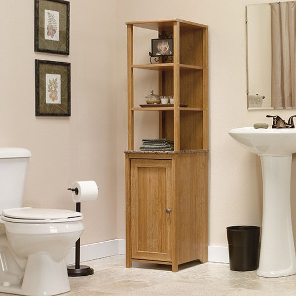 panel door corner bathroom cabinet