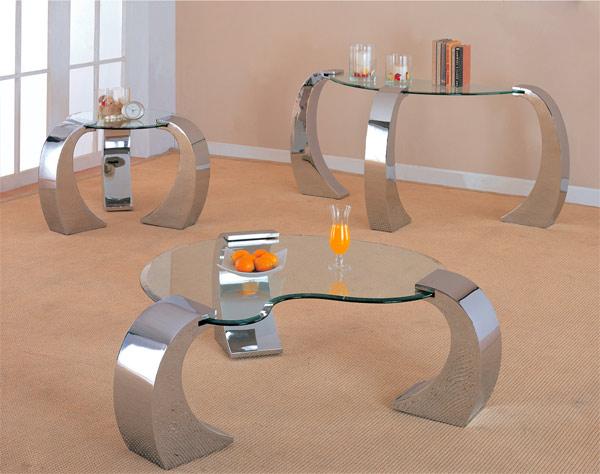 metal base modern glass