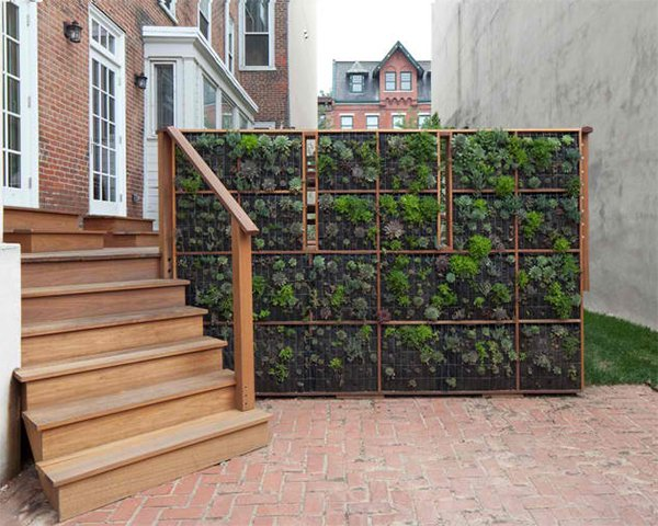 mahogany deck stair