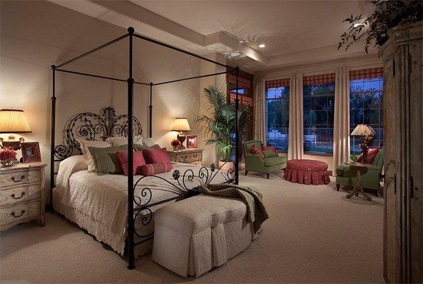 Mediterranean design bedroom