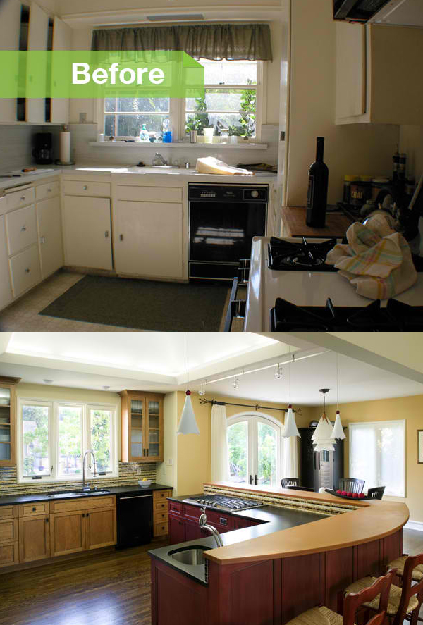 Sonoma remodel before and after photos of a transformed Remodeling a small old house