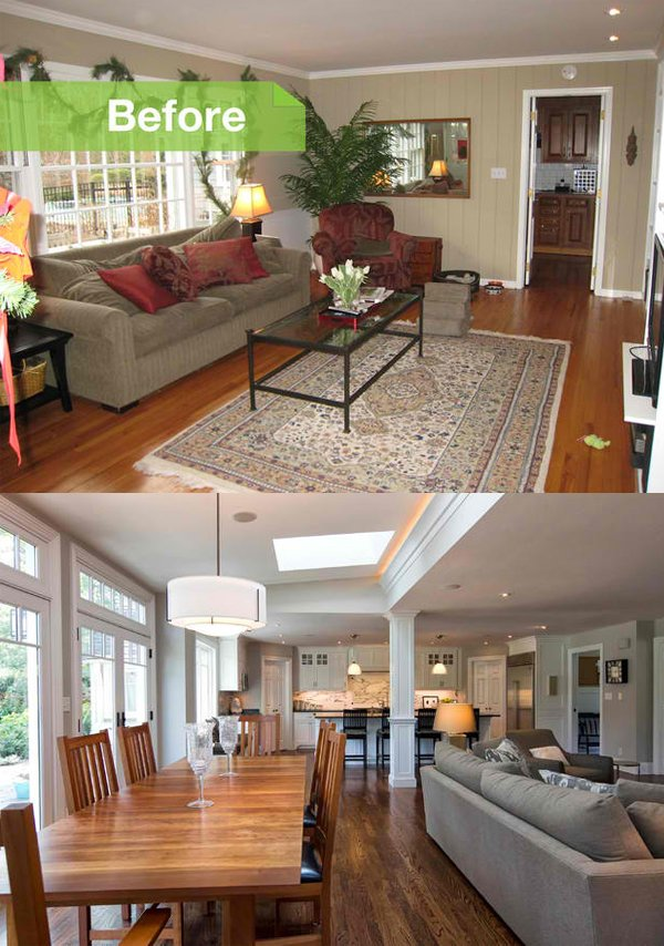 Charming Long Narrow Living Room