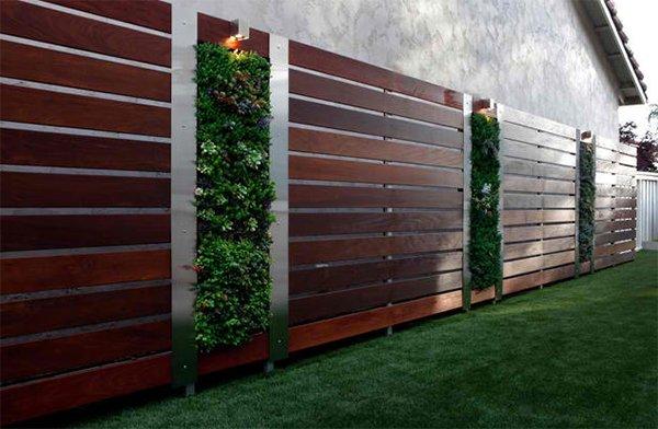 Ipe wood fence