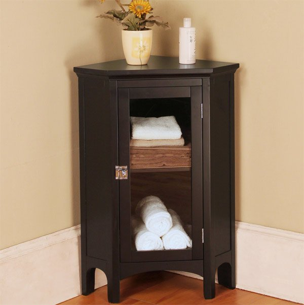 Wooden Corner Cabinet ~ Corner cabinets to make a clutter free bathroom space