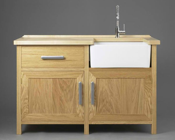 20 wooden free standing kitchen sink home design lover for Small kitchen sink cabinet