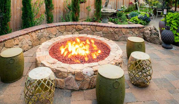 Fire pit placement and location